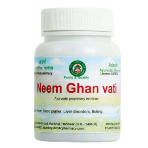 Neem Ghan Adarsh Ayurvedic Pharmacy, 20 grams ~ 50 tablets