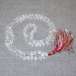 Rosary from faceted crystal, 108 beads