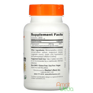 High absorption Magnesium 100% chelated with Albion minerals - 100 mg, 120 tablets Doctor's Best