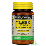 Vitamin K2 plus D3, 100 tablets